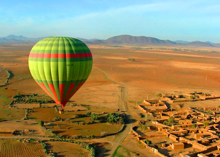 Hot air balloon rides at sunrise or sunset in marrakech