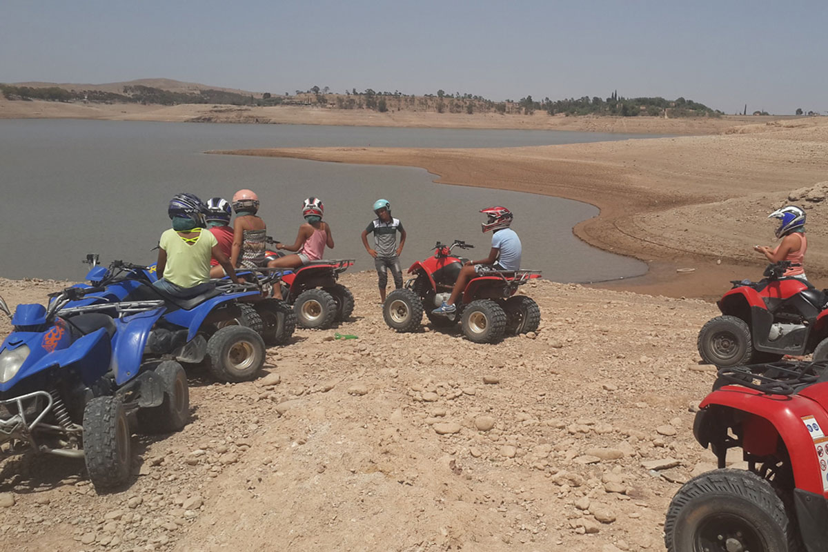 Quad Biking in Agafay Desert & Palm Grove From Marrakech